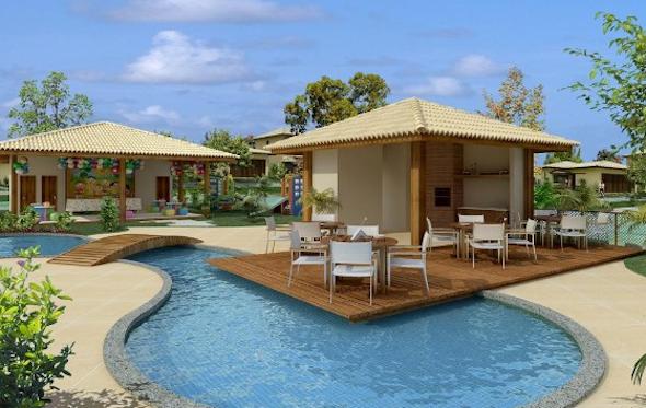 Piscina integrada com a varanda em casas ou apartamento for Modelos de piscinas de campo
