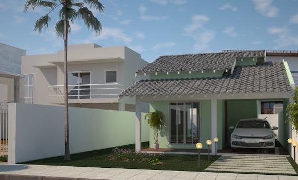 14 modelos de frente de casas pequenas e bonitas for Diseno de frente de casa pequena