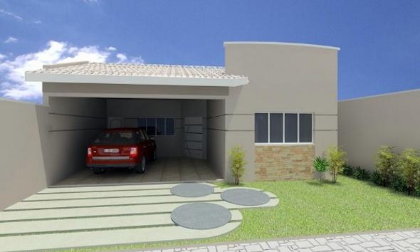 14 modelos de frente de casas pequenas e bonitas for Modelos de fachadas para frentes de casas