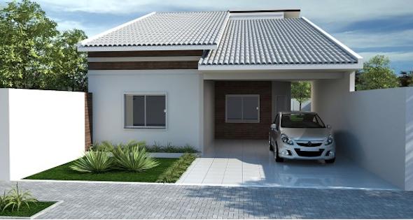 14 modelos de frente de casas pequenas e bonitas for Ver modelos de casas pequenas