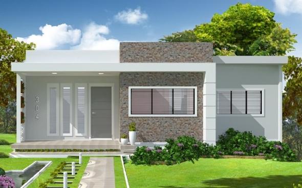 14 modelos de frente de casas pequenas e bonitas for Modelos jardines para casas pequenas