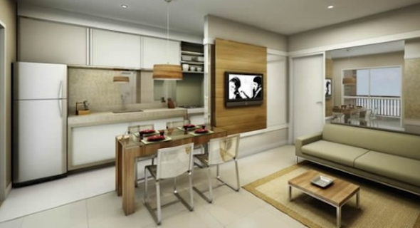 Cozinha integrada com a sala 14