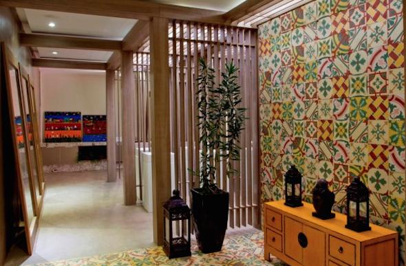 mosaico de azulejo como uslo em sua casa