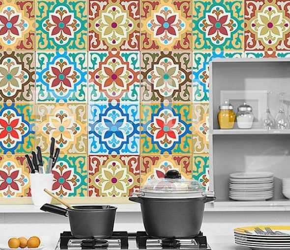 Mosaico de azulejo como us lo em sua casa tipos e 12 for Mosaicos de azulejos en paredes