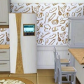 Papel de parede na cozinha 1