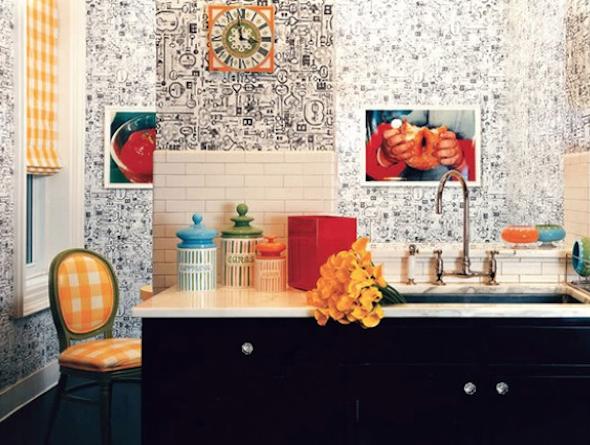 Papel de parede na cozinha 2