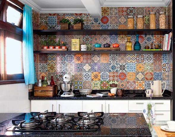 Papel de parede na cozinha 4