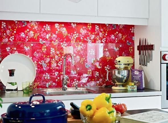Papel de parede na cozinha 6