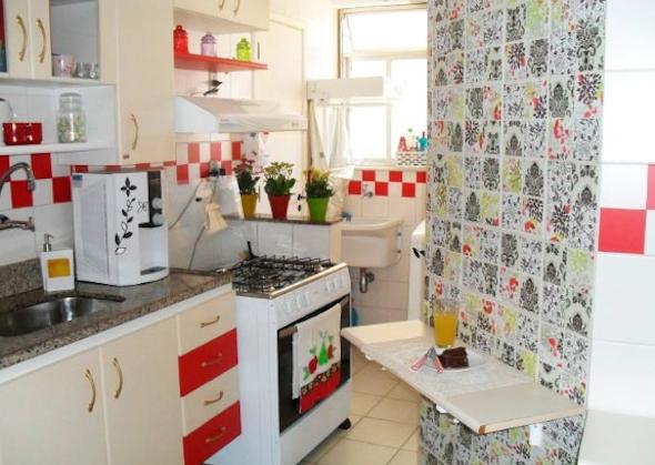 Papel de parede na cozinha 9