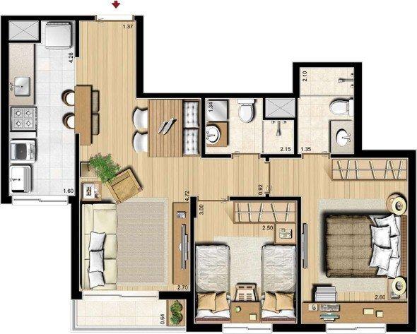 10-plantas_de_casas_com_cozinha_americana