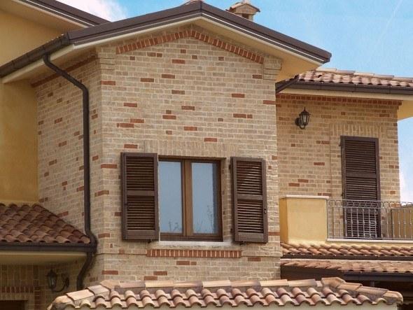 14 fachadas de casa com tijolinhos a vista e v rias dicas for Cabina con avvolgente portico