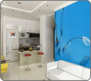 Impressão em HD em papel de parede para casa 001