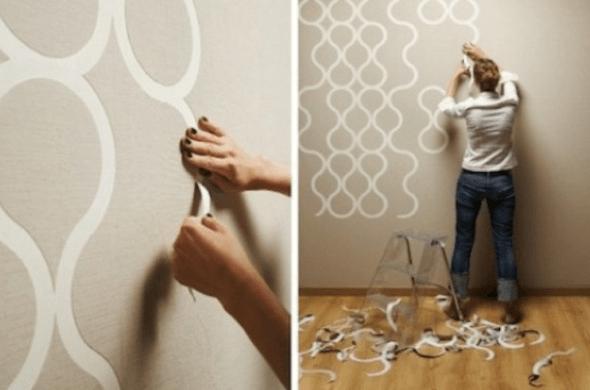 Como pintar paredes de forma criativa 4 t cnicas e 12 modelos for Pintura plateada para pared