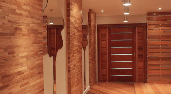 11-Tacos de madeira para revestir parede externa