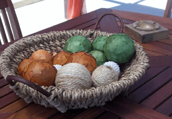 12-Bolas coloridas para decorar a casa
