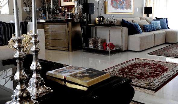 12-Tapetes para sala de estar modelos