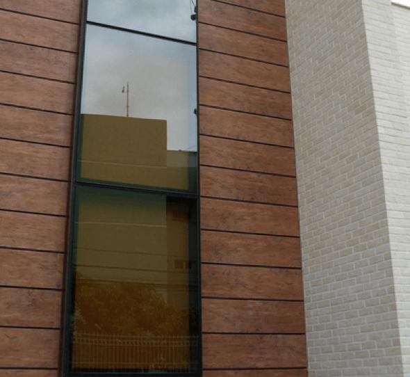 19-Tacos de madeira para revestir parede externa
