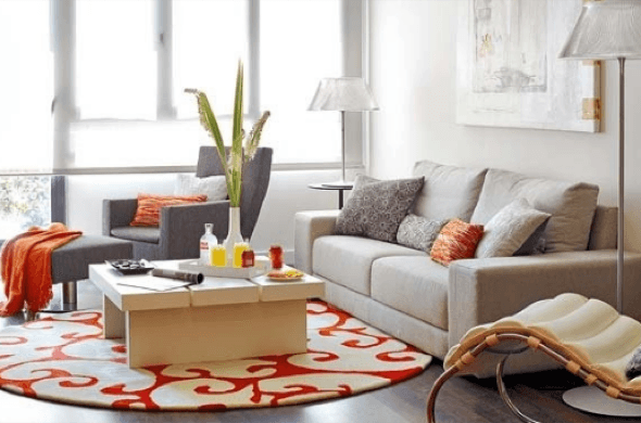 21-Tapetes para sala de estar modelos