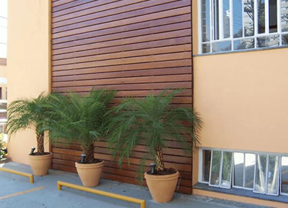 4-Tacos de madeira para revestir parede externa