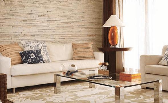 6-Tapetes para sala de estar modelos