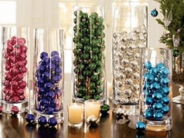 7-Bolas coloridas para decorar a casa