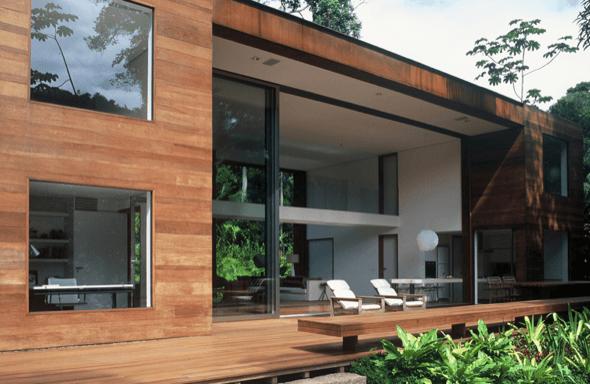 7-Tacos de madeira para revestir parede externa