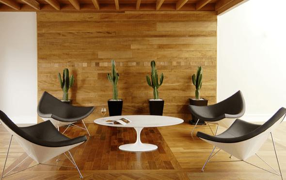 9-Tacos de madeira para revestir parede externa