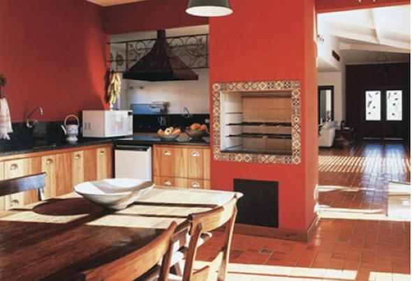 Churrasqueira na cozinha modelos-3