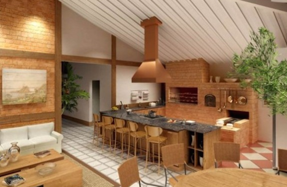 Churrasqueira na cozinha modelos-8