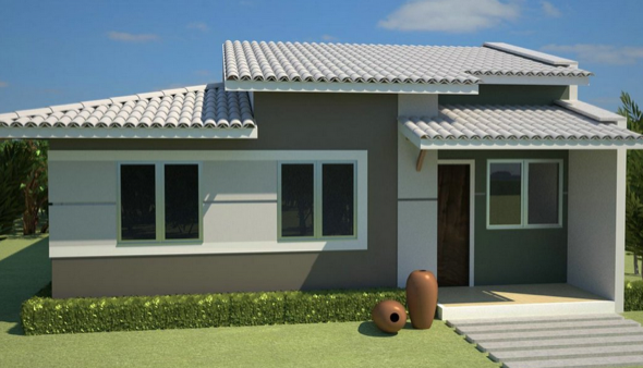 4 maneiras de renovar a fachada de casa e um v deo tutorial for Pintura para frente de casas