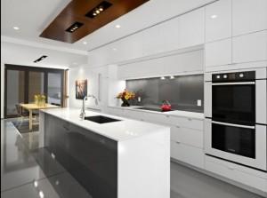 Bancada para cozinha branca 012