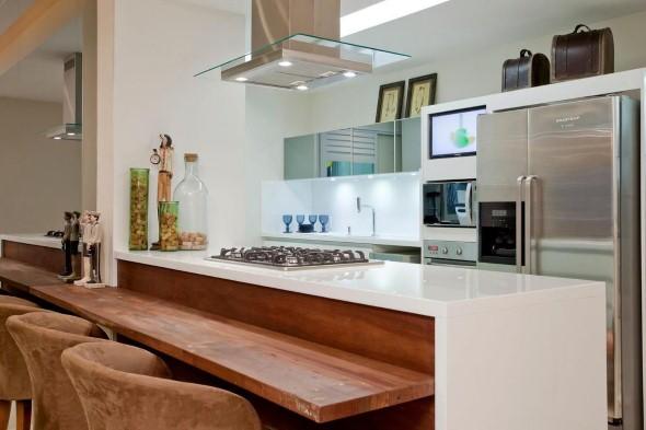 Bancada para cozinha branca 015