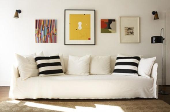 Como fazer arranjos de quadros nas paredes-7