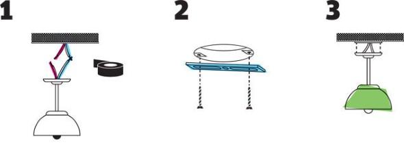 Como instalar uma luminária pendente 002