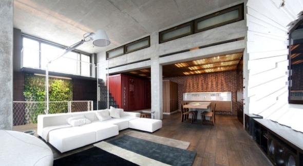 Decoração em concreto aparente em casas e apartamentos-10
