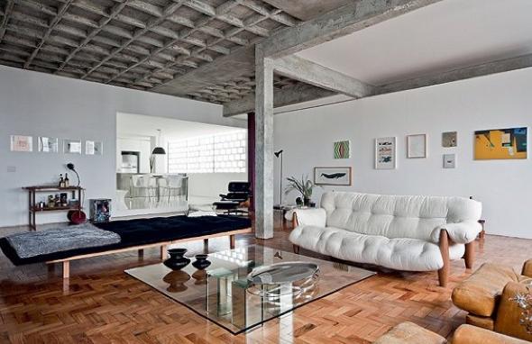 Decoração em concreto aparente em casas e apartamentos-13
