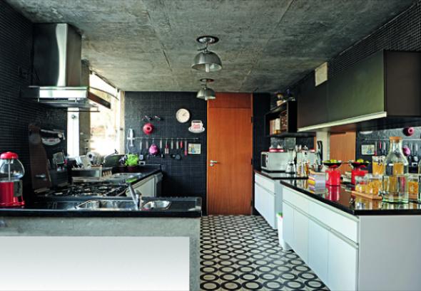 Decoração em concreto aparente em casas e apartamentos-14