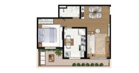 10-Apartamentos com planta livre
