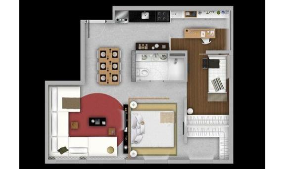 13-Apartamentos com planta livre