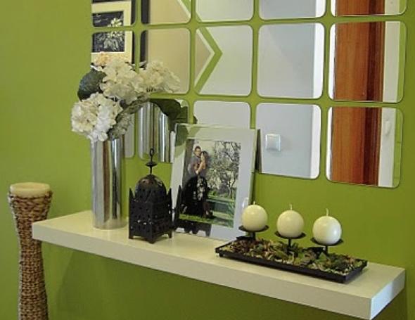 3-Hall de entrada decorar com quadros e prateleiras