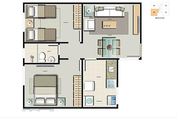 5-Apartamentos com planta livre