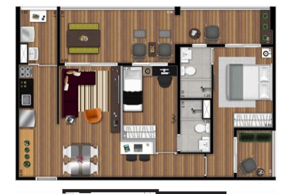 6-Apartamentos com planta livre