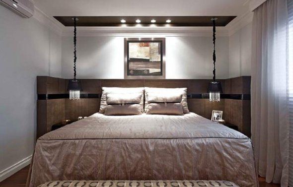 Usar luminárias pendentes no quarto e 16 modelos de bom gosto ~ Quarto Casal Luminaria Pendente