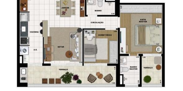8-Apartamentos com planta livre