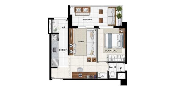 9-Apartamentos com planta livre