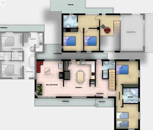 14-plantas de casas com 4 quartos