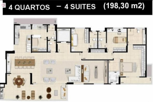19-plantas de casas com 4 quartos