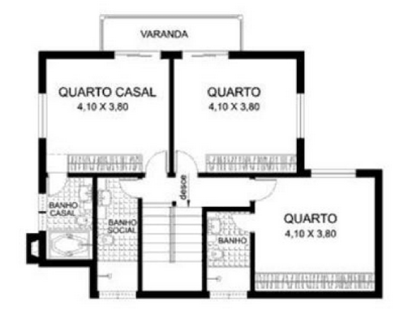 21-plantas de casas com 4 quartos