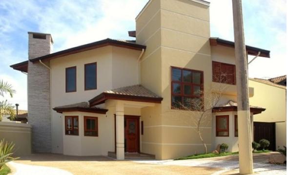 Fachadas de casas em cores claras 15 fotos e dicas da nova tend ncia - Fachadas de casas pintadas ...