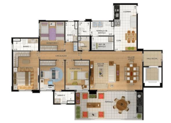 7-plantas de casas com 4 quartos
